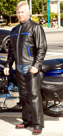 mens jacket and chaps